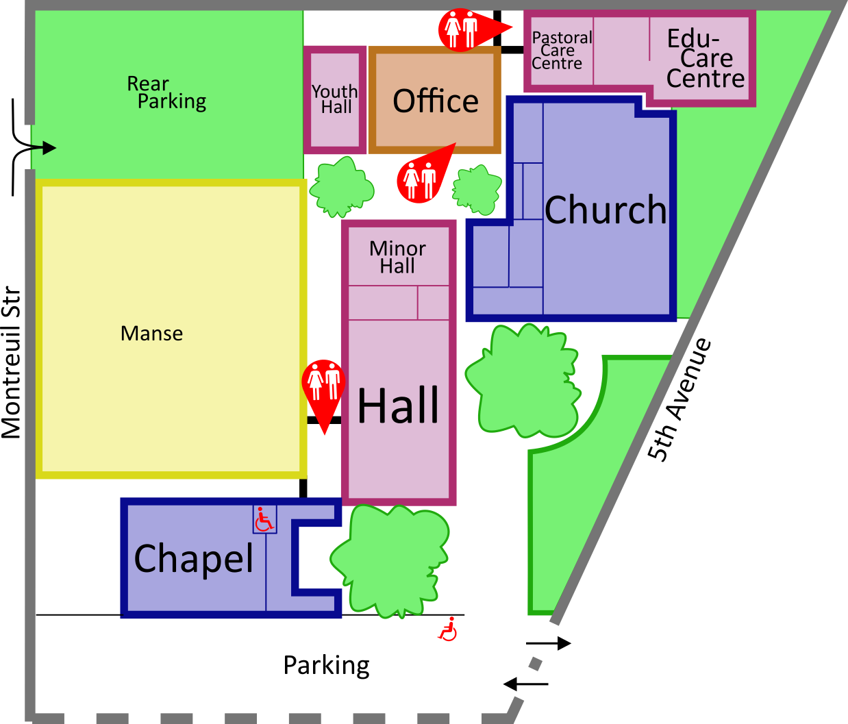 Trinity Church Map